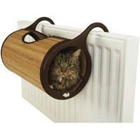 Кошачий домик на батарею бамбук  Jolly Moggy