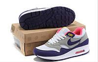 Кроссовки женские Nike Air Max 87 фиолетовые с серым