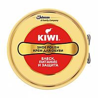"""Крем для обуви в банке """"Нейтральный"""" KIWI Shoe Polish."""