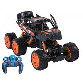 Машинка джип на пульте управления детский 6 колес внедорожник багги полный привод Черно-оранжевый (59223)