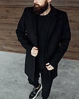 Пальто мужское весеннее осеннее Черное