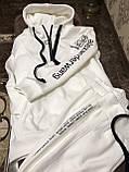 Жіночий спортивний костюм на флісі з бавовни під горло зимовий 42 44 46 чорний молочний мокко принт, фото 9