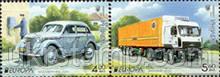 Сцепка из двух марок «Москвич-400. 1953 », « МАЗ-5440. 2013 ». по программе «EUROPA».
