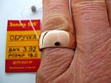 Широке обручку 3.92 грама 18.5 розмір Золото 585 проби, фото 8