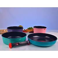 Набор посуды съемная ручка Hilton 2452 FR (7 предметов)