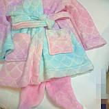 Дитячий махровий халат 3-4 роки Рибка, фото 3