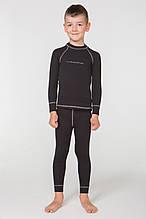 Дитячий комплект термобілизни Rough Radical Billy з балаклавою, чорний з сірим рядком (104\110 см)
