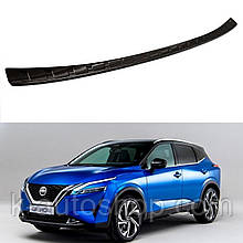 Захисна накладка на задній бампер для Nissan Qashqai J12 2021+ /чорн.нерж.сталь/