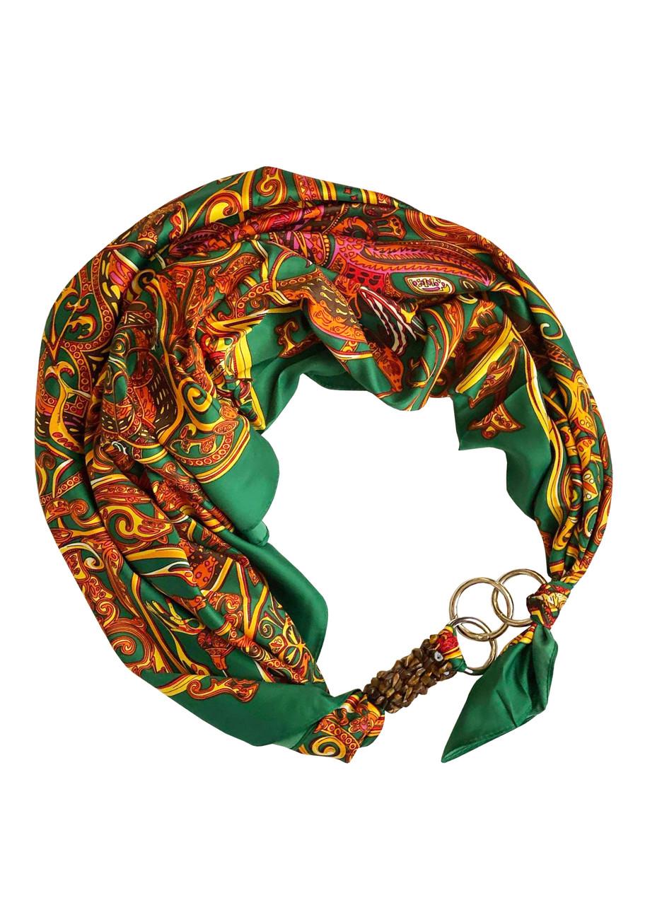 """Хустка """"Смарагдовий Шовк"""" від бренду MyScarf, подарунок жінці"""