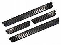 "Захисні накладки на пороги ""Special Edition"" для Nissan Qashqai J12 2021+ /чорн.нерж.сталь/"