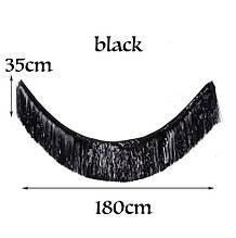 Гірлянда дощик чорний - висота 35см, ширина 180см, фольга
