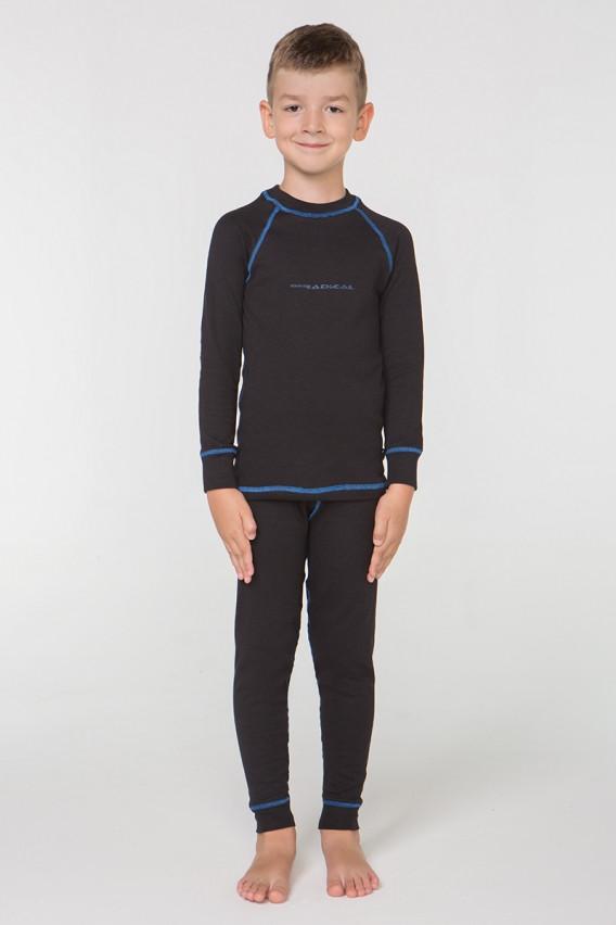 Дитячий комплект термобілизни Rough Radical Billy з балаклавою, чорний з синім рядком (104\110 см)