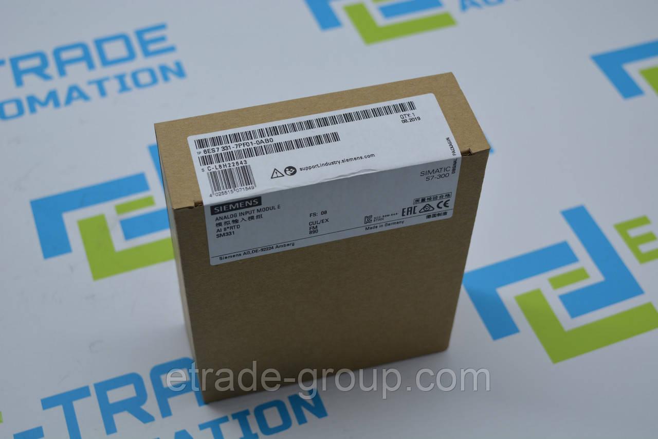Модуль Siemens 6ES7331-7PF01-0AB0 SIMATIC S7-300 (6ES7 331-7PF01-0AB0, 6ES73317PF010AB0)