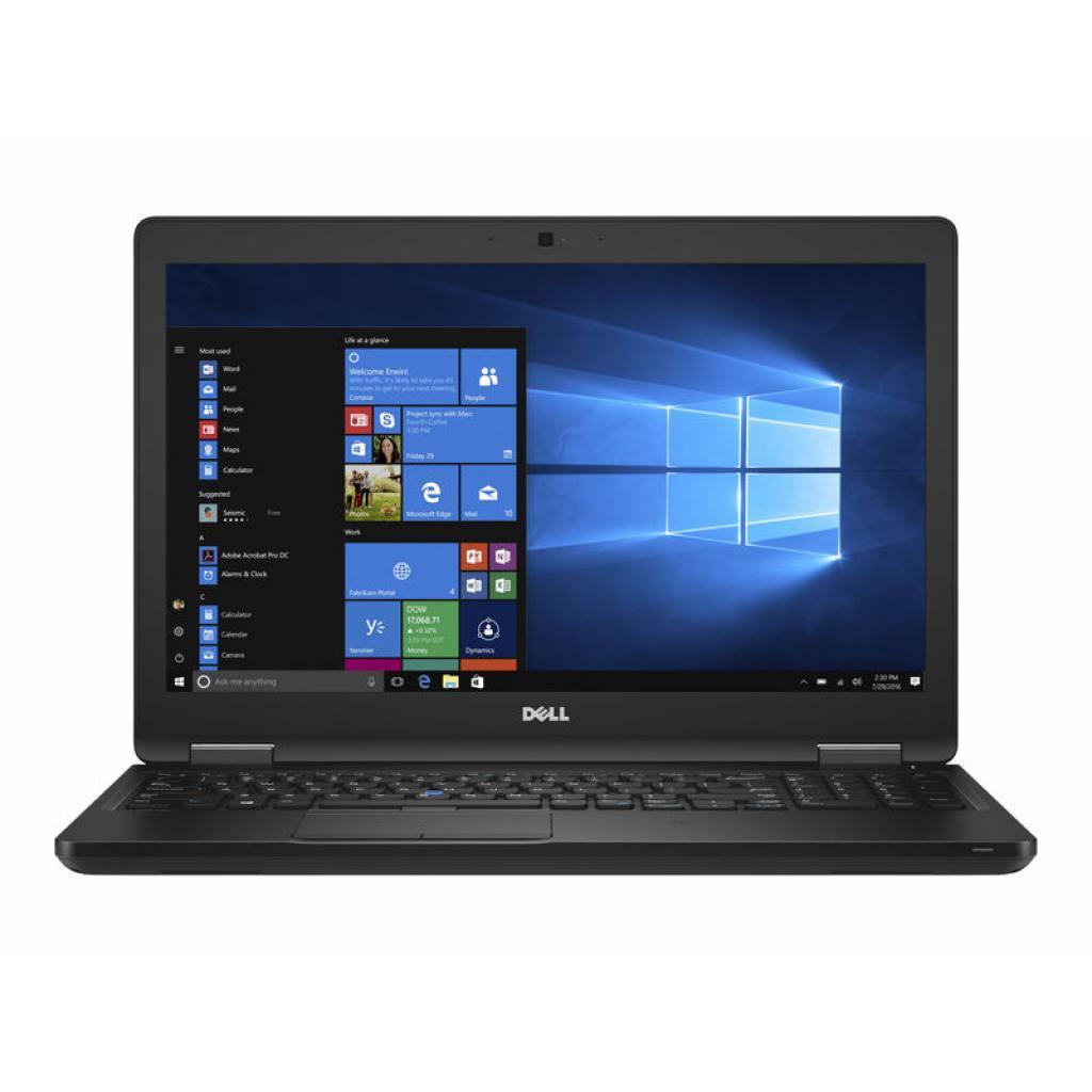 Ноутбук Dell Latitude E5580-Intel Core-i5-7440HQ-2,80GHz-8Gb-DDR4-240Gb-SSD-W15.6-FHD IPS-Web-nVidia 940MX-(A)- Б/В