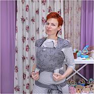 Трикотажный слинг-шарф HOPPEDIZ Grey-melange Bio, фото 2