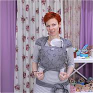 Трикотажный слинг-шарф HOPPEDIZ Grey-melange Bio, фото 3