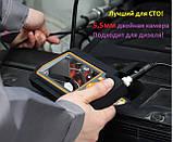 Ендоскоп 5,5 мм Подвійна камера для діагностики Дизельних та Бензинових двигунів товщина всього 5,5 мм Зум 2х, фото 5
