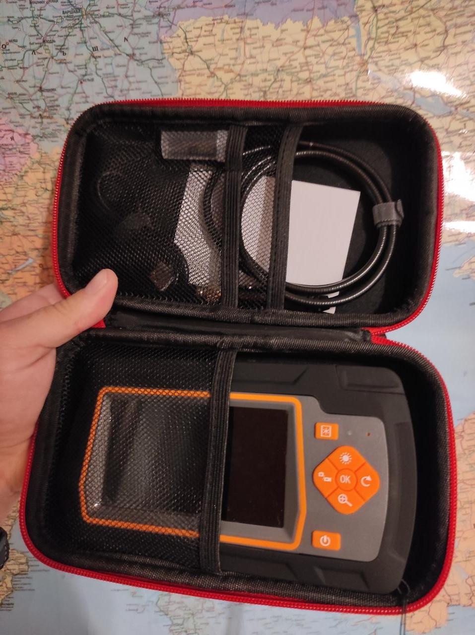 Ендоскоп 5,5 мм Подвійна камера для діагностики Дизельних та Бензинових двигунів товщина всього 5,5 мм Зум 2х