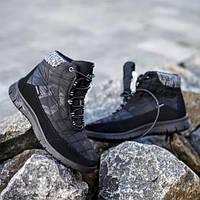 Ботинки подростковые зимние меховые черный