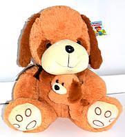 Мягкая игрушка собачка с щенком 45 см