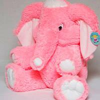 Мягкая игрушка розовый слон 80 см