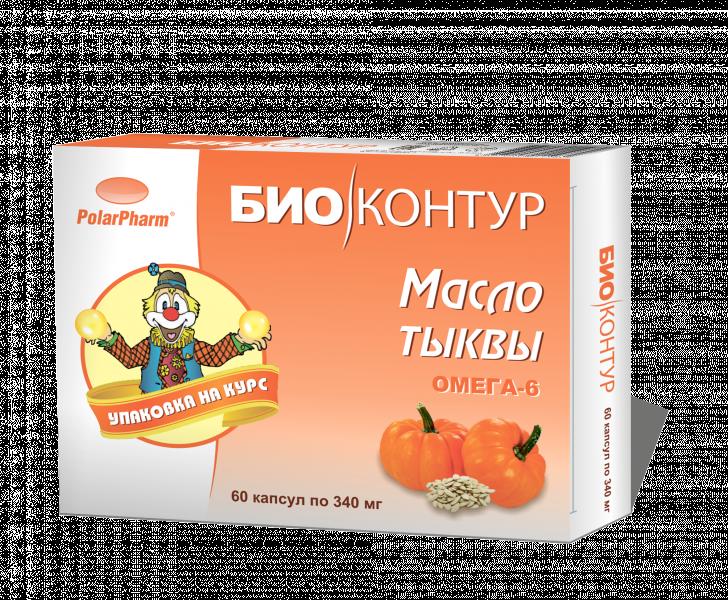 Масло тыквы, 60 капсул