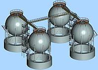 Изготовление и монтаж сферических резервуаров