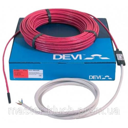 Нагревательный кабель 10м 180Вт 18Вт/м DTIP-18T DEVI для тёплого пола