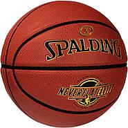 Баскетбольний м'яч спалдінг Spalding NeverFlat Elite Indoor-Outdorr Basketball Size 6, 28.5 Оригінал, фото 2