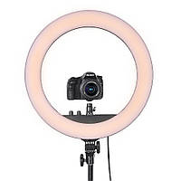 Профессиональная кольцевая лампа MakeUp RL-18II для косметологии 60ВТ штатив в сумке , держатель для телефона