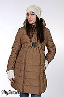 Очень теплая куртка для беременных Neva (песочная)