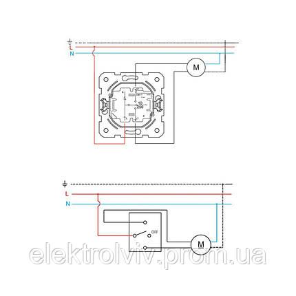 Кнопочный выключатель управления жалюзи, фото 2