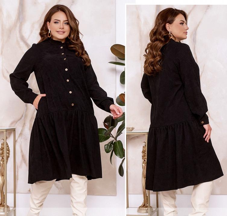 Женское вельветовое платье , большие размеры 46-68р