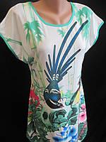 Женские красивые туники с ярким рисунком., фото 1