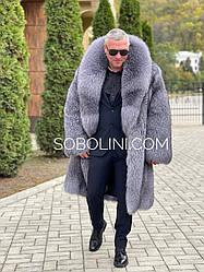 Пальто мужское из блюфроста под заказ