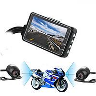 Видеорегистратор для мотоцикла на руль Leshp SE300 с двумя камерами