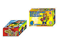 """Кубики детские развивающие """"Персонажі мультфільмів"""" ТМ """"ТехноК"""" 6 кубиков"""