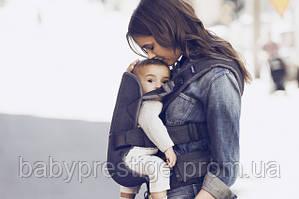 Эргономичный рюкзак-кенгуру Babybjorn Carrier ONE Denim blue/Blue Cotton Mix. Новинка 2016 года!