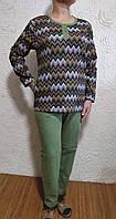Теплая домашняя женская одежда, байковая пижама двойка для сна и отдыха, размер 48,50( L,XL).