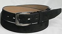 Брючный мужской замшевый ремень 2895 чёрный ДхШ: 125х3,5 см.