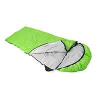 Спальный мешок Кемпінг Peak 200R с капюшоном Green