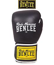 Боксерские перчатки Benlee TOUGH 10oz, кожа, черные