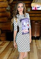 Платье женское в горошек с рисунком