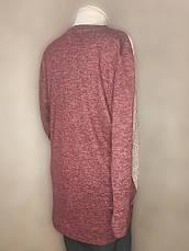 Туника батал для полных женщин теплая бордовая, фото 2