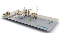 Производство топливных брикетов, с измельчителем соломы