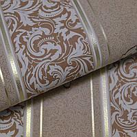 Шпалери вінілові на паперовій основі Vinil ВКV Філіп кавовий 0,53 х 10,05 м (3-1120), Кавовий, Кавовий, фото 1