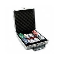 Набор для игры в покер в алюминиевом кейсе (100 фишек, две колоды карт)