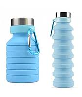 Складная силиконовая бутылка LUX Bottle 550 мл легкая и компактная для путешествий EL-582 (TopTrends)