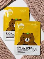 Маска с эссенцией зеленого чая Bioaqua Fasial Animal Mask Bear (TopTrends)