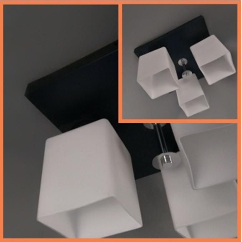 Люстра потолочная на три лампы 29-A649/3B BK+WT